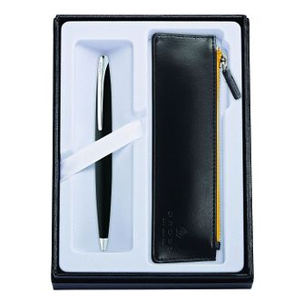 Cross ATX Black Ballpoint Pen and Pouch Set - Product number 8697000
