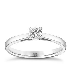 Tolkowsky 18ct white gold 1/4ct HI-SI2 diamond ring - Product number 8697582