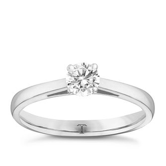 Tolkowsky 18ct white gold 0.33ct HI-S12 diamond ring - Product number 8697728