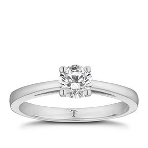 Tolkowsky 18ct white gold 1/2ct HI-S12 diamond ring - Product number 8697876