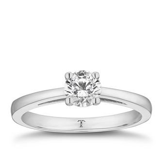 Tolkowsky 18ct white gold 0.66ct HI-SI2 diamond ring - Product number 8698007