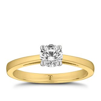 Tolkowsky 18ct yellow gold 0.50ct HI-SI2 diamond ring - Product number 8698694