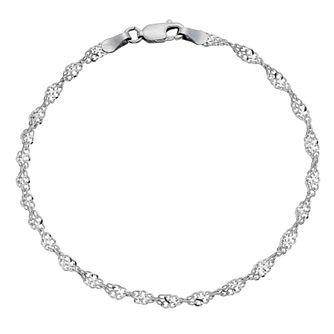 9ct white gold sparkle twist bracelet - Product number 8707987