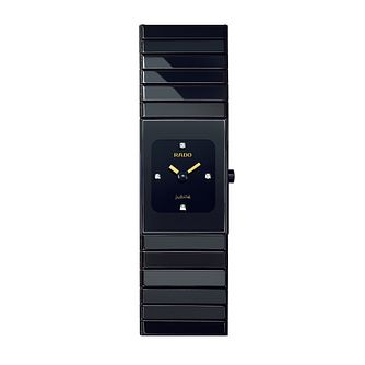Rado Ceramica ladies' black ceramic bracelet watch - XS - Product number 8712123