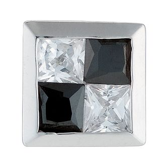 9ct White Gold Square Cubic Zirconia Stud Earring - Product number 8716404