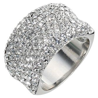 Clear Crystal Band Ring- Size Large - Product number 8747733
