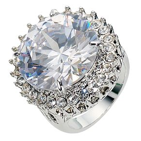 Round Clear Stone Ring- Size P - Product number 8747768