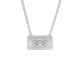 Emmy London Silver & Diamond Bag Pendant - Product number 8779902