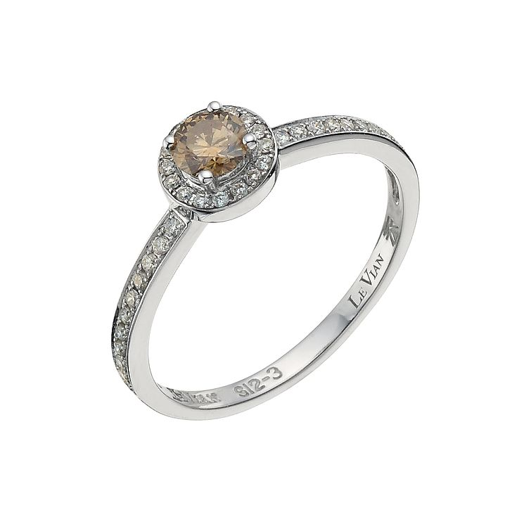 Le Vian 14ct gold 40pt Vanilla & Chocolate Diamond ring - Product number 8788812