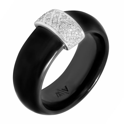 Diamond Ceramic Bar Ring - Product number 8801754