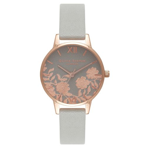Olivia Burton Lace Detail Ladies' Rose Gold Plated Watch - Product number 8816980