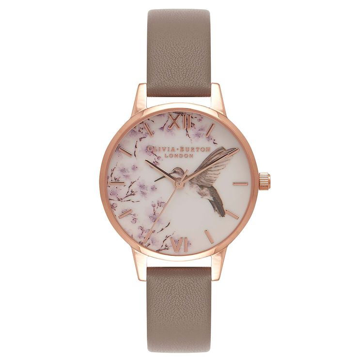 Olivia Burton Painterly Prints Ladies Rose Gold Plated Watch - Product number 8817014