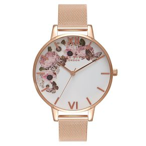 Olivia Burton Signature Floral Ladies Rose Gold Plated Watch - Product number 8817022
