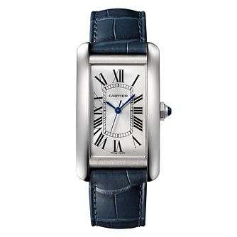 Cartier Tank Blue Large Strap Watch - Product number 8817103