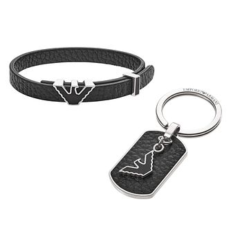 Emporio Armani Men's Stainless Steel Keyring Set - Product number 8817162