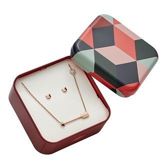 Fossil Ladies' Silver Arrow Jewellery Set - Product number 8817286