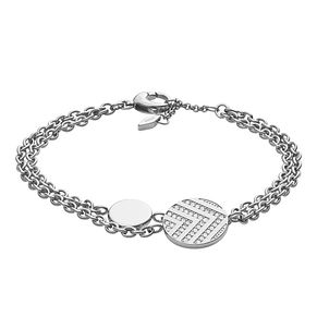 Fossil Ladies' Stainless Steel Chevron Double Bracelet - Product number 8817340