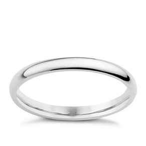 Palladium 950 2mm extra heavy plain court ring - Product number 8834806