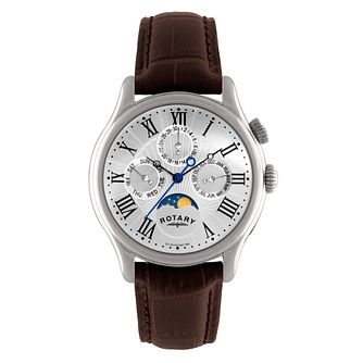 Rotary Men's Brown Leather Strap Watch - Product number 8848815