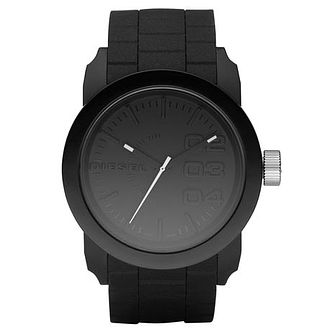 Diesel Double Down Men's Black Silicone Strap Watch - Product number 8852529
