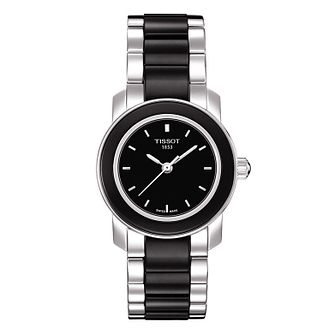 Tissot ladies' stainless steel/ black ceramic bracelet watch - Product number 8855242