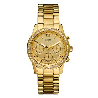 Ladies' Guess Gold Plated Bracelet Watch - Product number 8878463