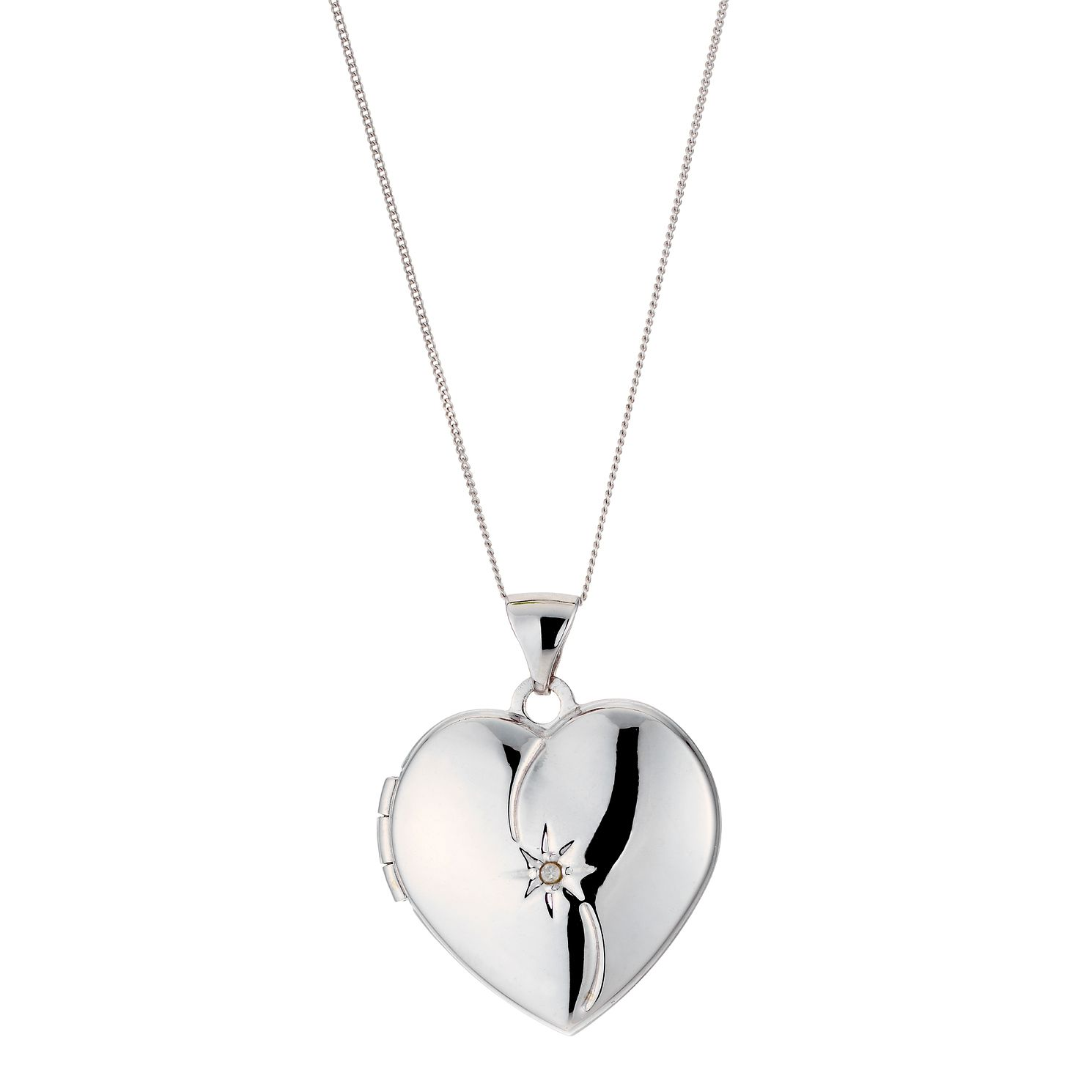 treasure heart metal lockets from locket plain steel image