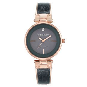 Anne Klein Ladies' Grey Enamel Bracelet Watch - Product number 8887713