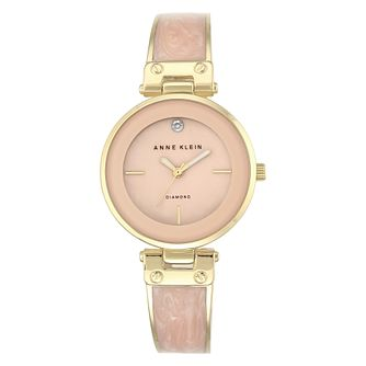 Anne Klein Ladies' Pink Enamel Bracelet Watch - Product number 8887721