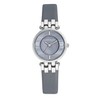 Anne Klein Ladies' Grey Leather Strap Watch - Product number 8889503