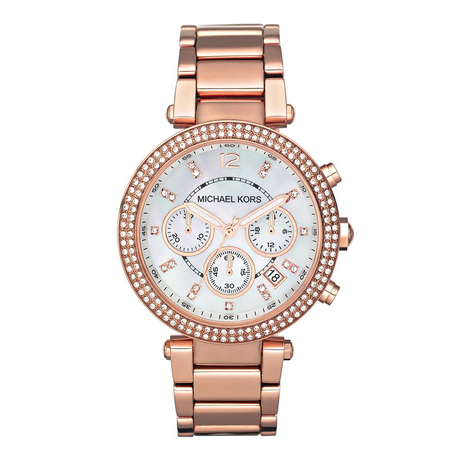 Michael Kors Ladies Rose Gold Bracelet Watch Ernest Jones