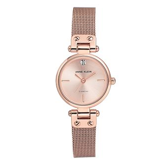 Anne Klein Ladies' Rose Gold Tone Mesh Bracelet Watch - Product number 8891362
