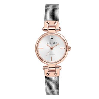 Anne Klein Ladies' Silver Tone Mesh Bracelet Watch - Product number 8891370