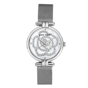 Anne Klein Ladies' Silver Tone Mesh Bracelet Watch - Product number 8891397