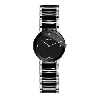 Rado Ladies' Centrix Black Ceramic Bracelet Watch - Product number 8896674