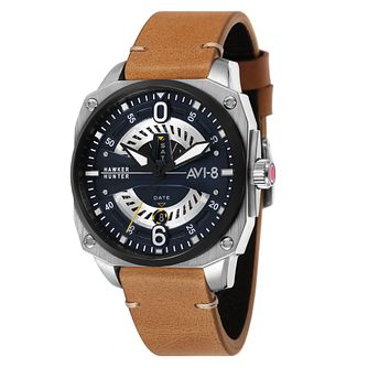 AVI-8 Men's Hawker Hunter Tan Leather Strap Watch - Product number 8902313