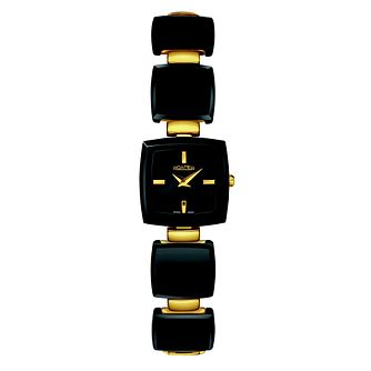 Roamer Odeon ladies' black ceramic & gold plated watch - Product number 8904960