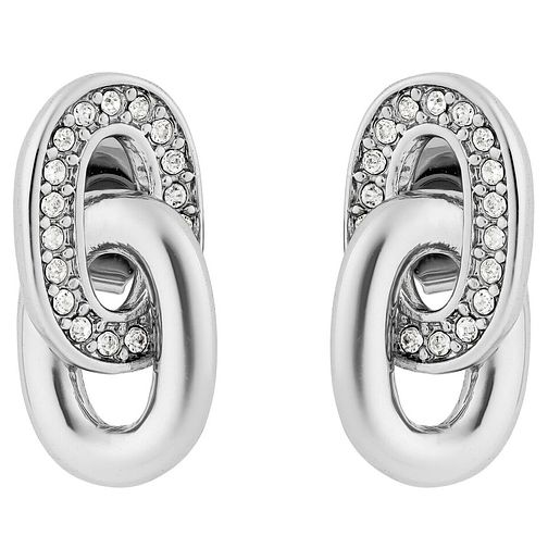 Adore Ladies' Rhodium Oval Link Earrings - Product number 8919593