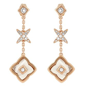 Adore Floret Ladies' Rose Gold Plated Linear Earrings - Product number 8919747