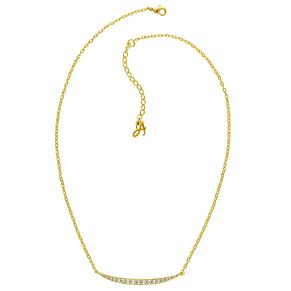 Adore Ladies' Yellow Gold Plated Curved Bar Necklace - Product number 8919763