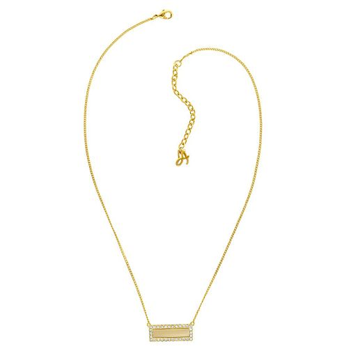 Adore Ladies' Yellow Gold Plated Ivory Resin Bar Necklace - Product number 8919801
