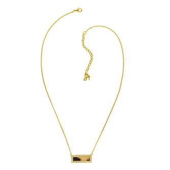 Adore Ladies' Yellow Gold Plated Tort Resin Bar Necklace - Product number 8919828