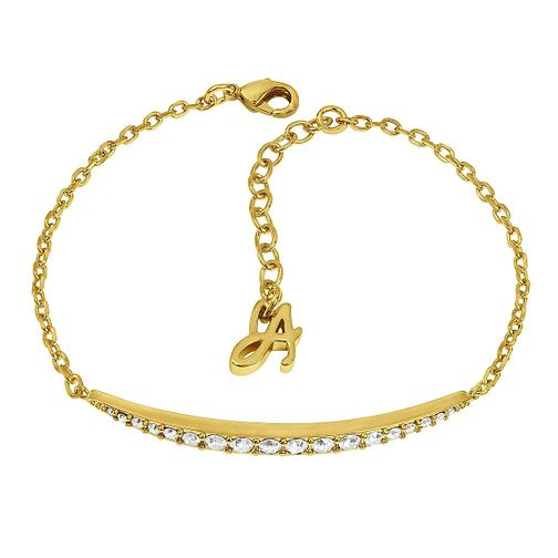 Adore Ladies' Yellow Gold Plated Curved Bar Bracelet - Product number 8919968