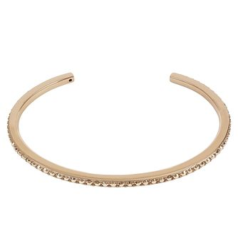 Adore Ladies' Rose Gold Plated Skinny Pave Bangle - Product number 8919992