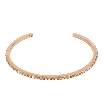 Adore Ladies' Rose Gold Plated Skinny Pave Bangle - Product number 8920036
