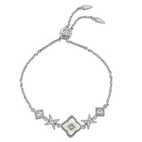 Adore Ladies' Rhodium Plated Floret Bracelet - Product number 8920095