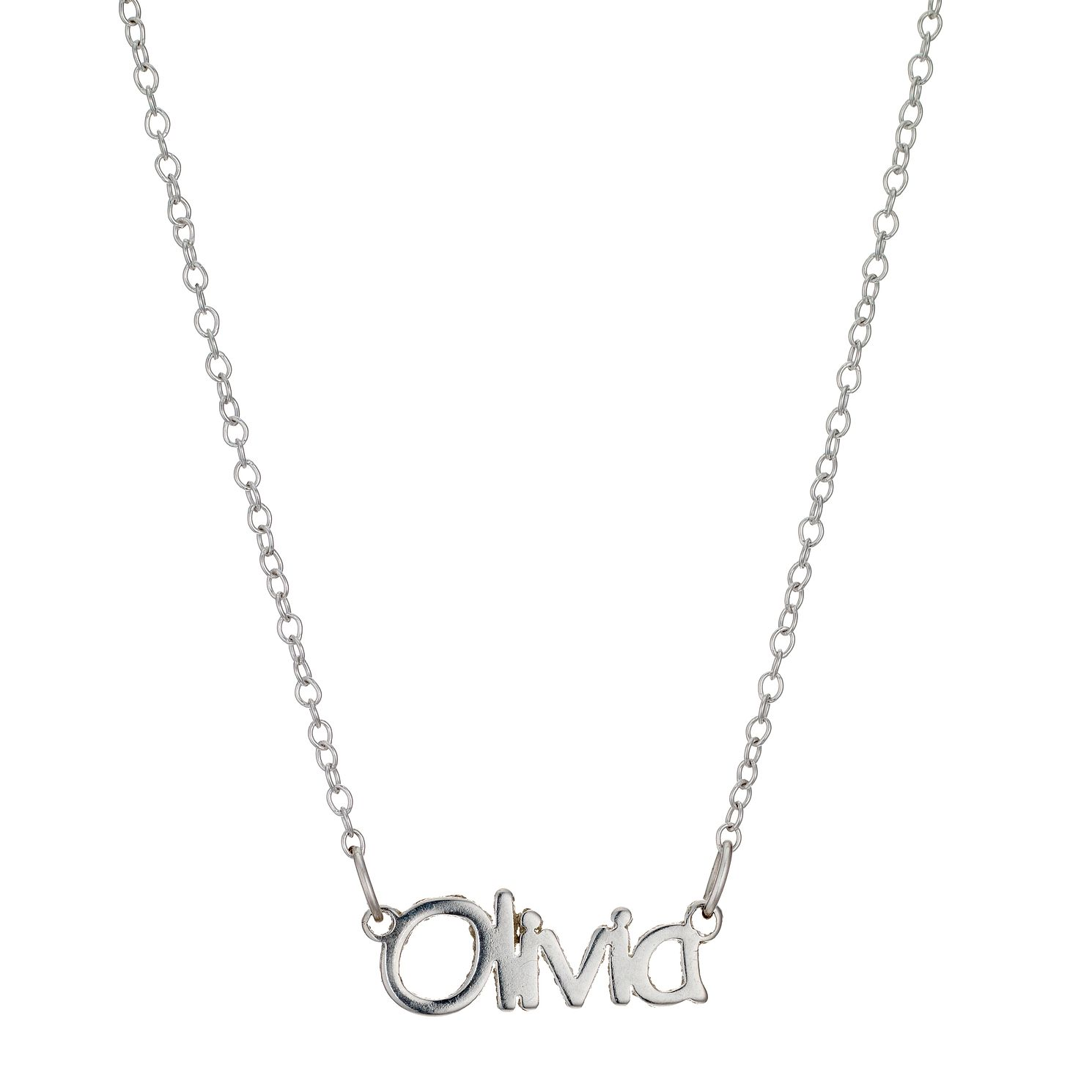 pendant necklace chain sterling jewellery name np csc silver index with sweet