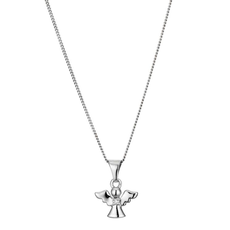 Children's Silver Angel Pendant Necklace - Product number 8920451