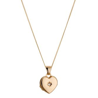 Children's 9ct Yellow Gold Diamond Locket - Product number 8920532