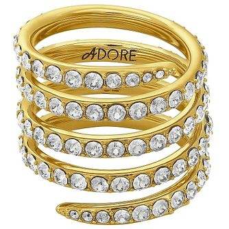 Adore Ladies' Yellow Gold Plated Coil Ring Size Small - Product number 8921075